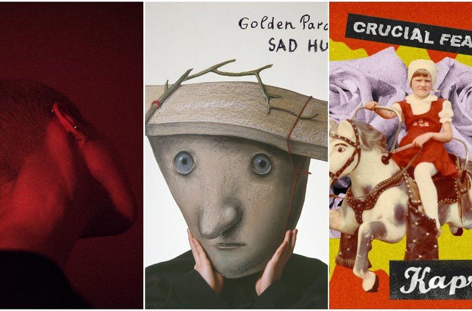 Brokenshord, Golden Parazyth, Crucial Features albumų viršeliai