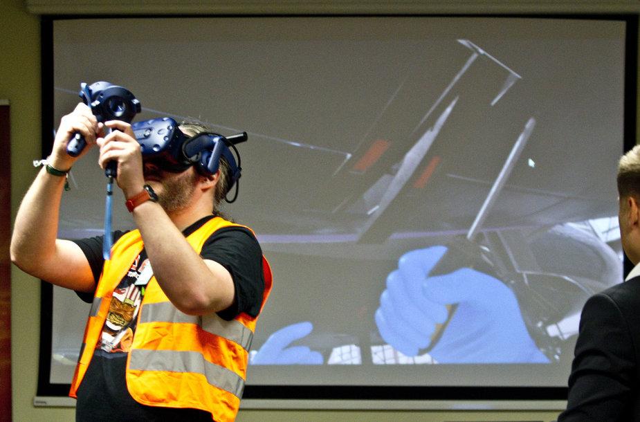 Lėktuvų mechanikų apmokymai virtualioje aplinkoje
