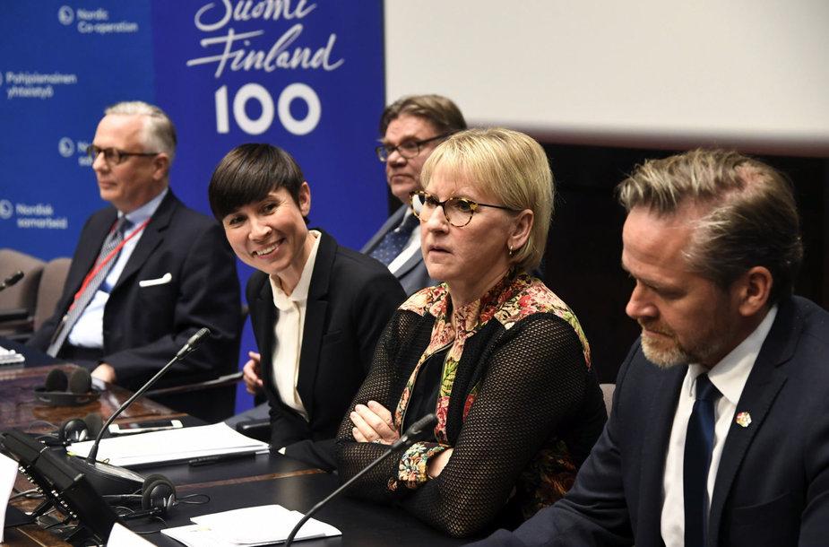 Šiaurės šalių užsienio reikalų ministrai