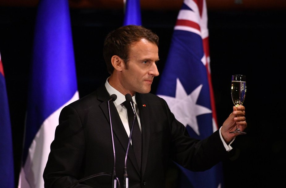 Emmanuelis Macronas Australijoje