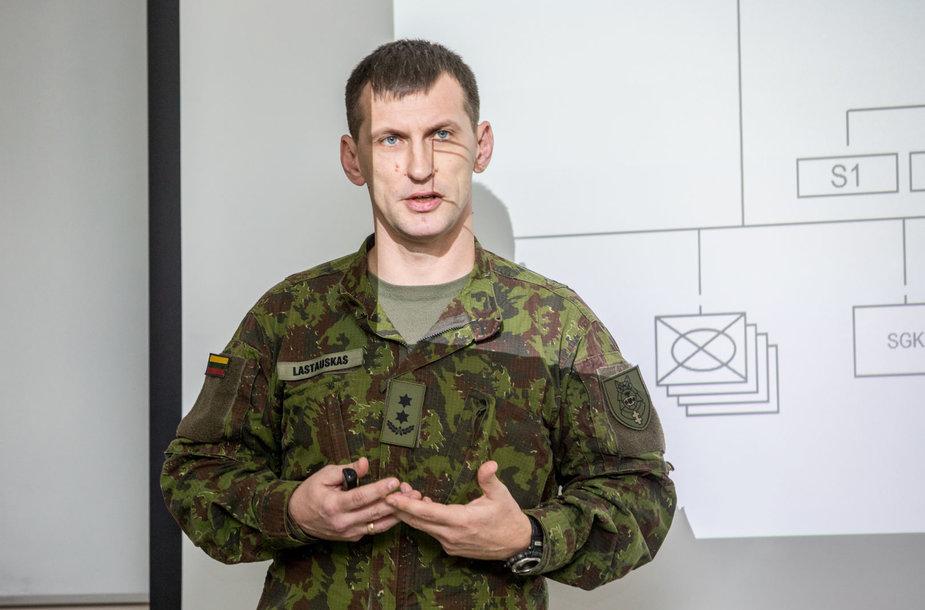Kunigaikščio Vaidoto mechanizuotojo pėstininkų bataliono vadas Eugenijus Lastauskas