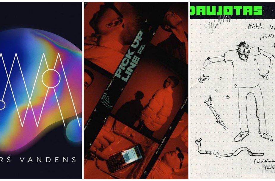 "Albumų ""Virš vandens"", ""Pick Up Line"" ir ""Beluga Oblongata"" viršeliai"