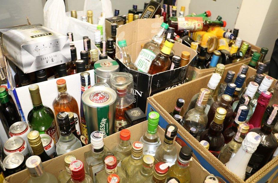 Sulaikytas nelegalus alkoholis