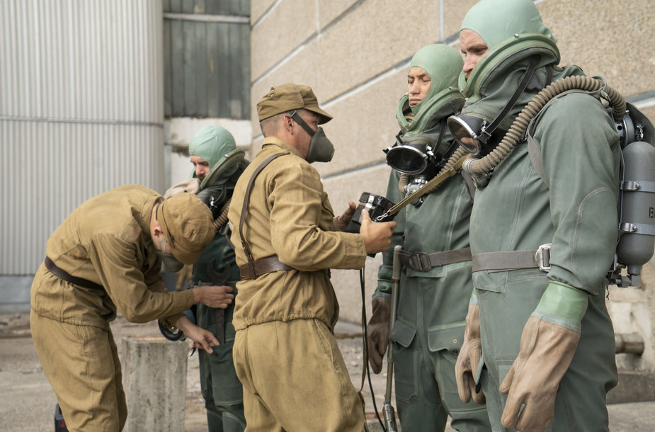 """Kadrai iš serialo """"Černobylis"""" filmavimo aikštelės"""