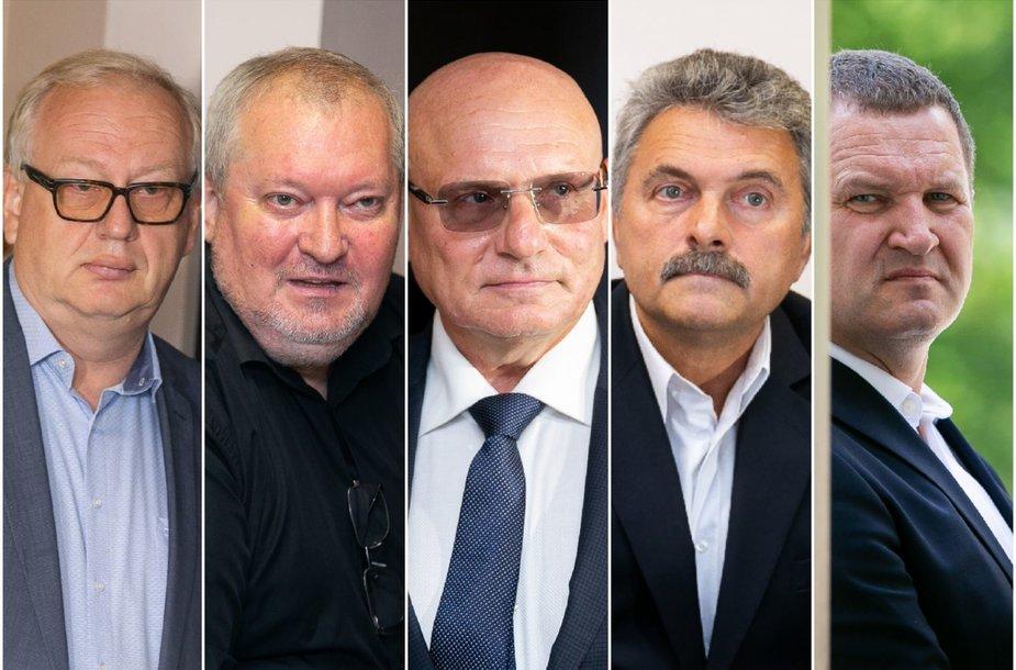 Egidijus Laužikas, Robertas Rainys, Viktoras Kažys, Henrichas Jaglinskis ir Arūnas Kaminskas