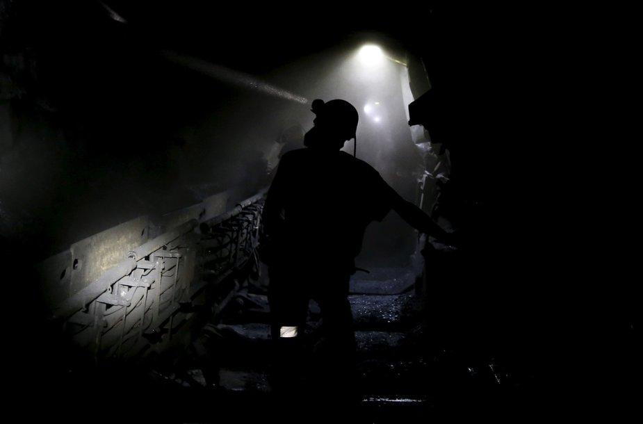 Lenkijos Silezijos vaivadijoje esančios akmens anglies kasyklos angliakasiai
