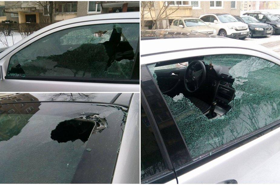Išdaužti automobilio langai
