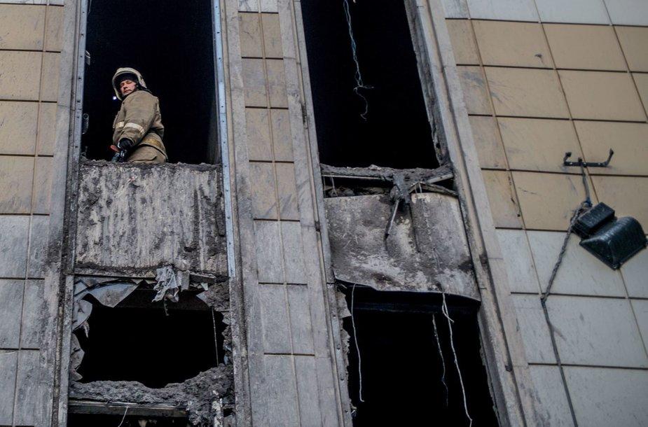 Sudegęs prekybos centras Kemerove