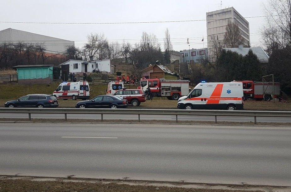 Gaisras Tunelio gatvėje Kaune
