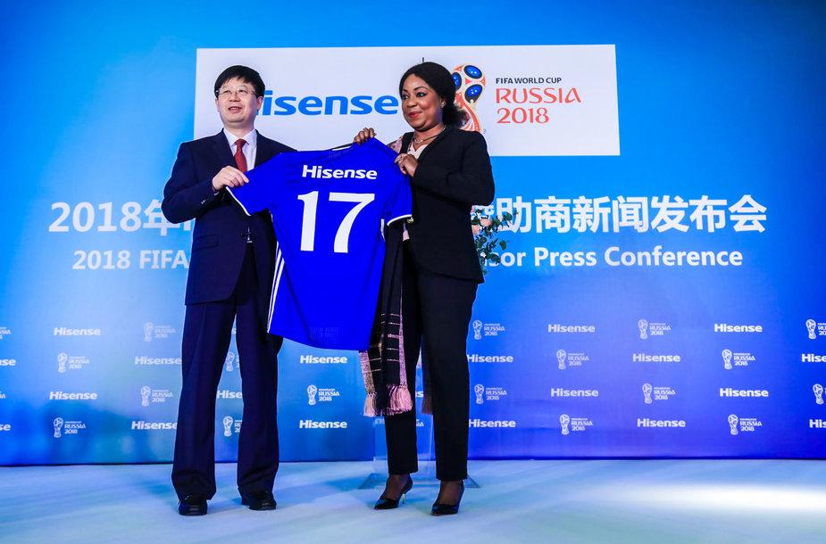 "Kinų elektronikos milžinas ""Hisense"" tapo Pasaulio futbolo čempionato rėmėju"