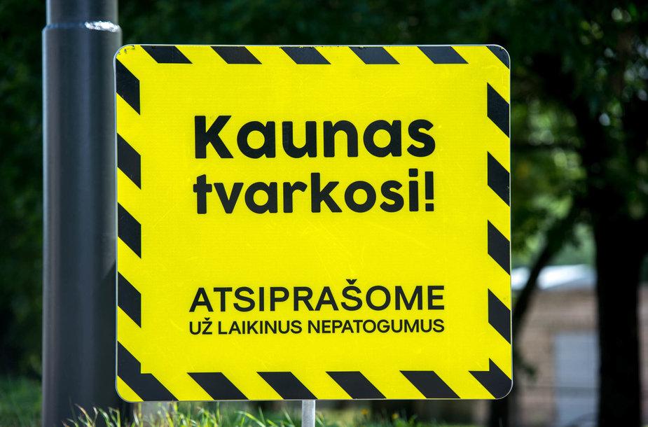 """Ženklas """"Kaunas tvarkosi"""""""