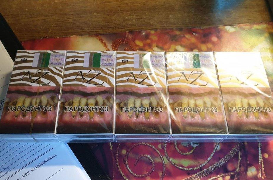 Kauno policijos pareigūnų aptiktos nelegalios cigaretės