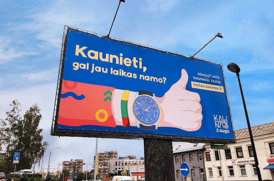 Kauno miesto savivaldybės kampanijos plakatas