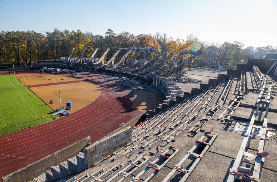 Ekskursija S. Dariaus ir S. Girėno stadiono statybvietėje