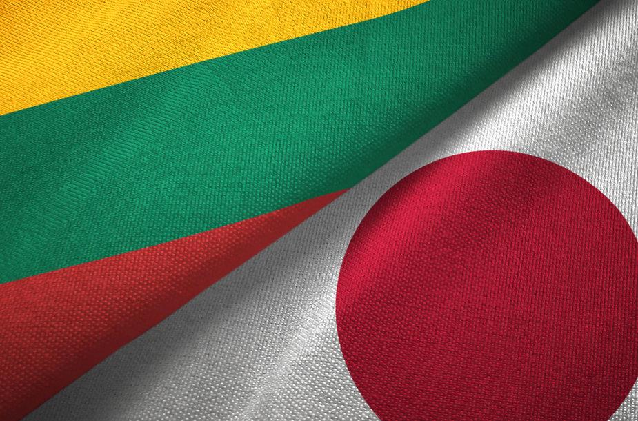 Lietuvos ir Japonijos vėliavos