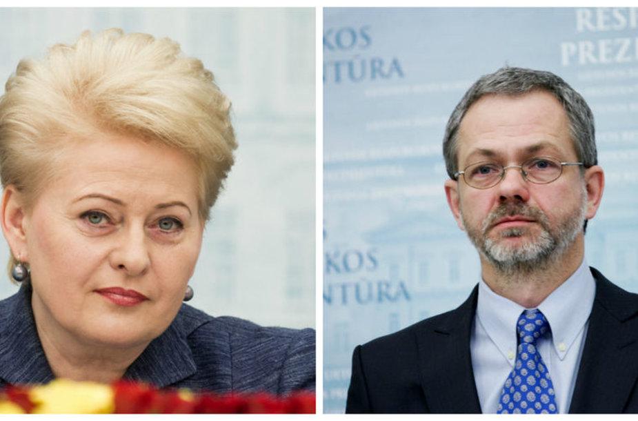 Linas Balsys ir Dalia Grybauskaitė