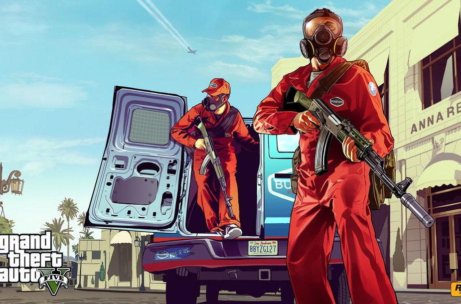 """""""Grand Theft Auto V"""" yra vienas iš labiausiai laukiamų kompiuterinių žaidimų"""