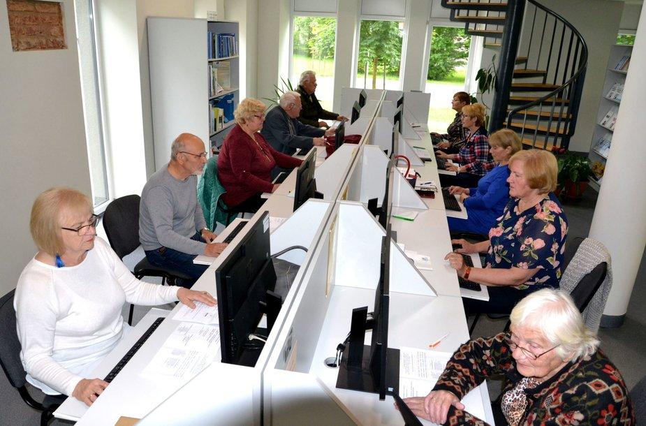 Pagėgių krašto gyventojai mokosi skaitmeninio raštingumo