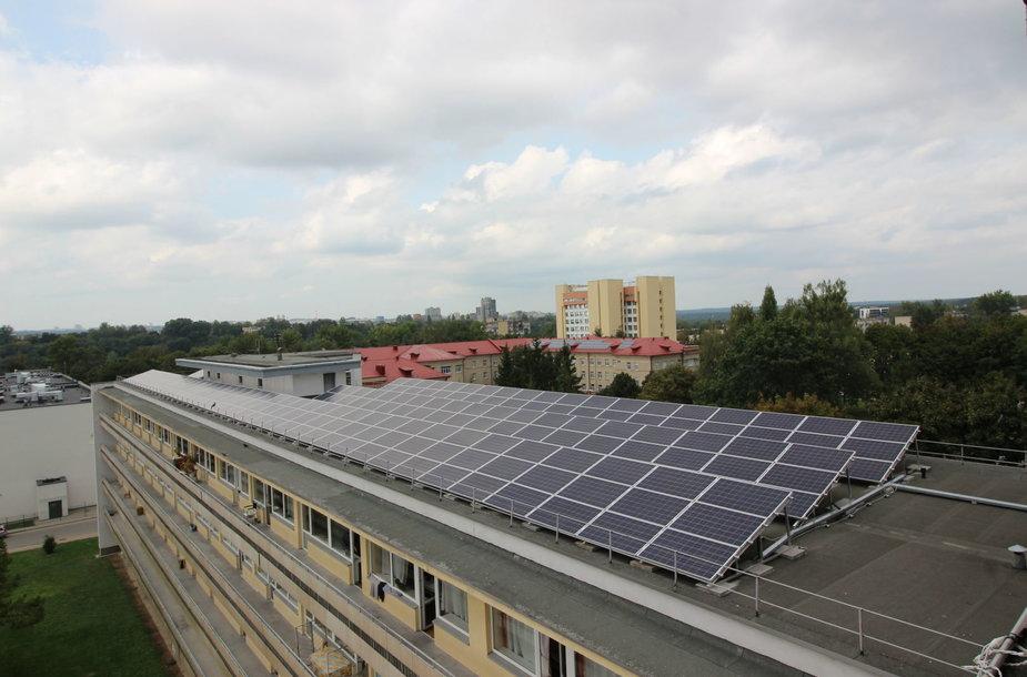 Saulės jėgainė ant ligoninės stogo