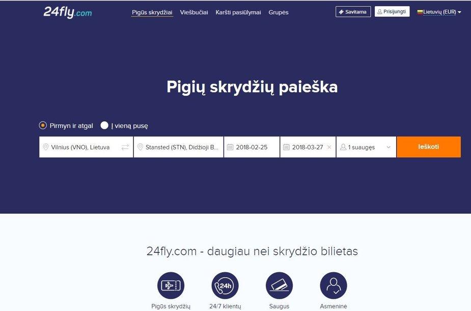 24fly.com svetainė