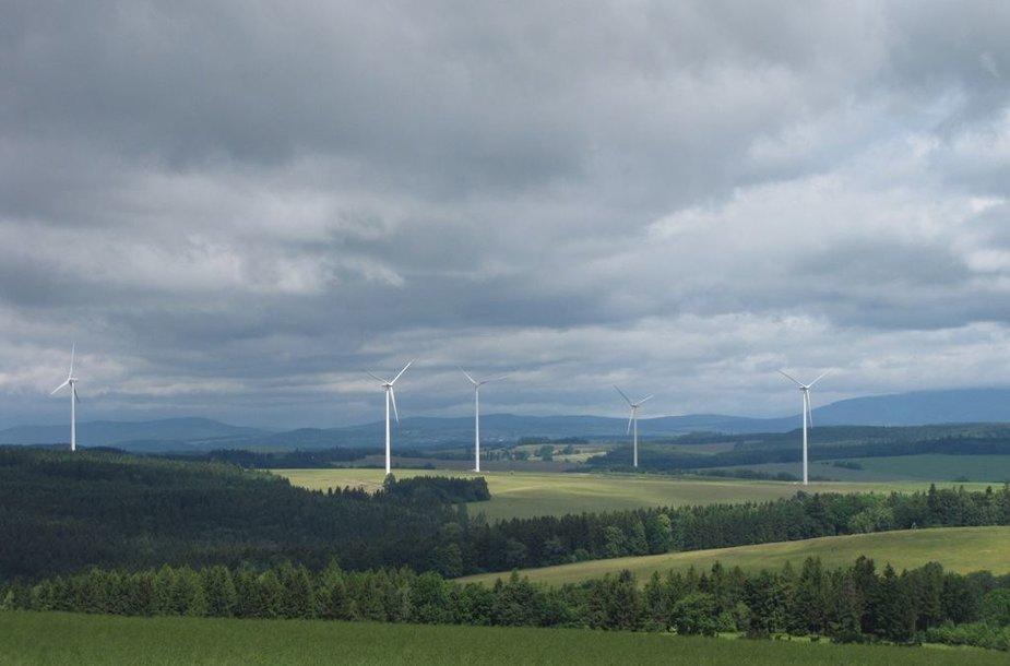 Vėjo jėgainių parkas Čekijoje