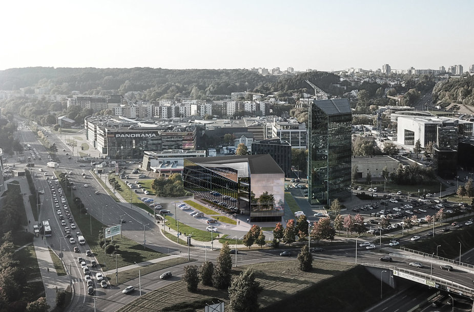 Planuojamas verslo centras Saltoniškių gatvėje