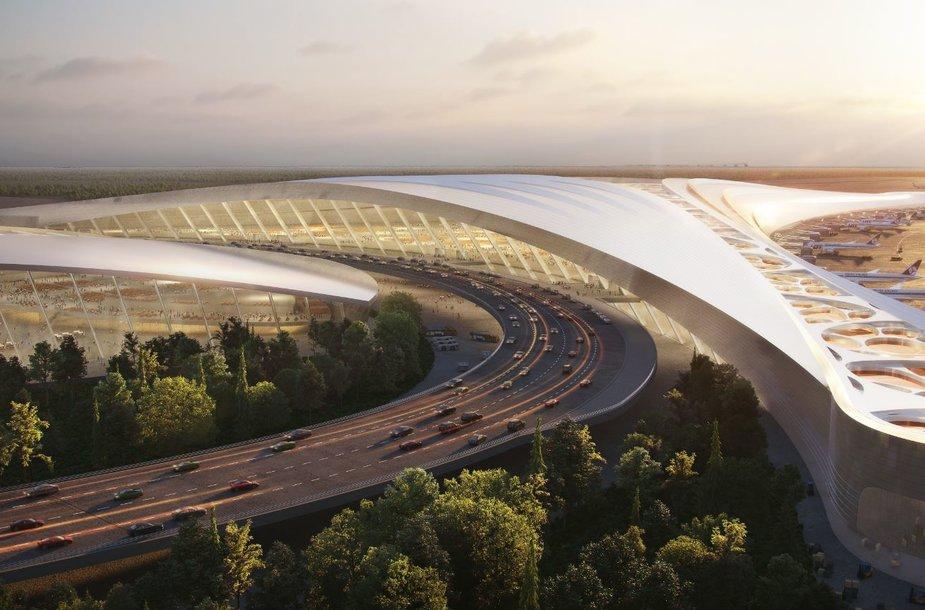 Architektų pasiūlymai Lenkijos oro uostui