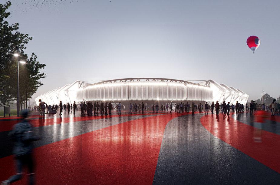 Atnaujintos Nacionalinio stadiono vizualizacijos