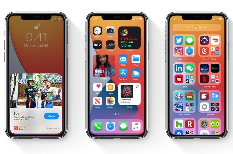 """iOS 14"" vaizdas"