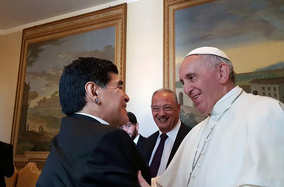 Popiežius Pranciškus ir Diego Maradona