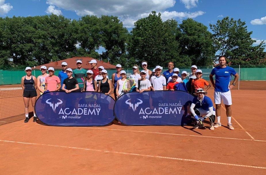 Vilniuje surengta Rafaelio Nadalio akademijos treniruočių stovykla.