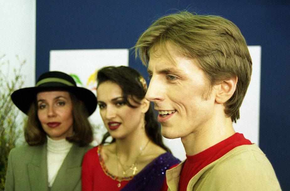 Povilas Vanagas ir Margarita Drobiazko 1998 m. olimpinėse žaidynėse Nagane.