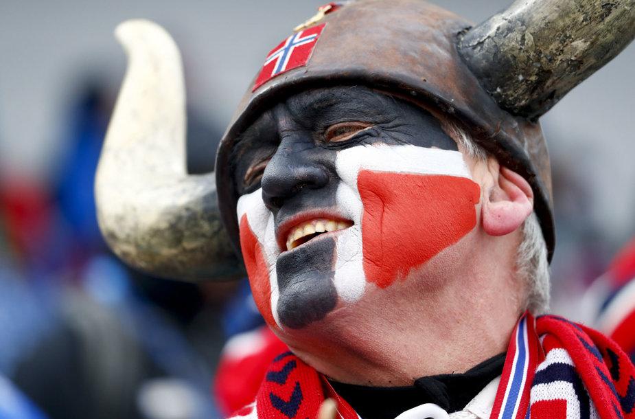 Norvegijos žiemos sporto aistruolis.