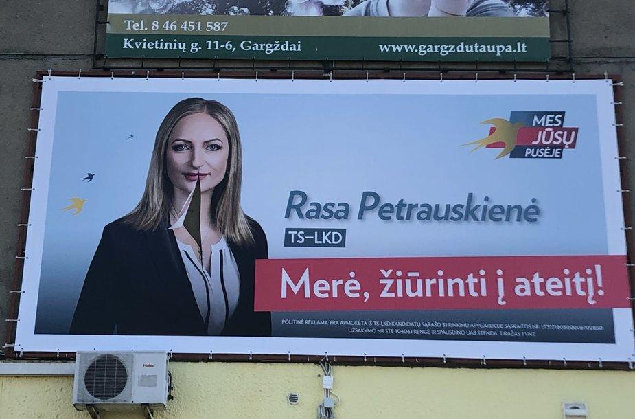 Gargžduose – sugadinti kandidatės į merus plakatai