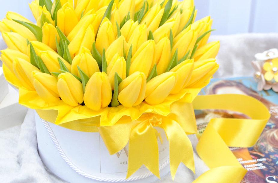 WOW Flowers gėlės Valentino dienos proga.