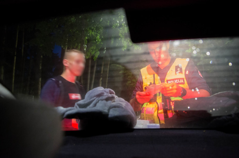 Naktinis policijos reidas Palangoje