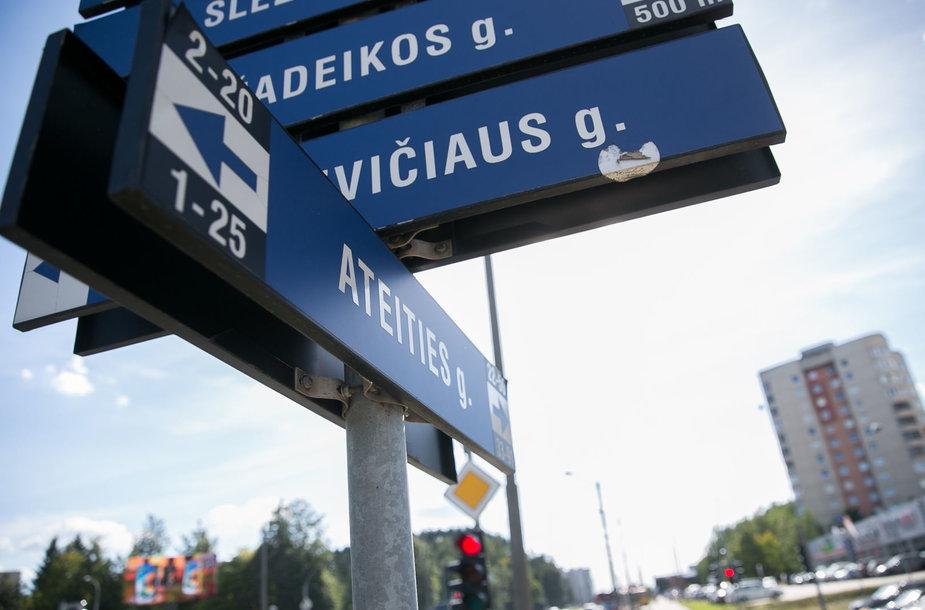 L.Giros g. ir Ateities g. sankryža Vilniuje