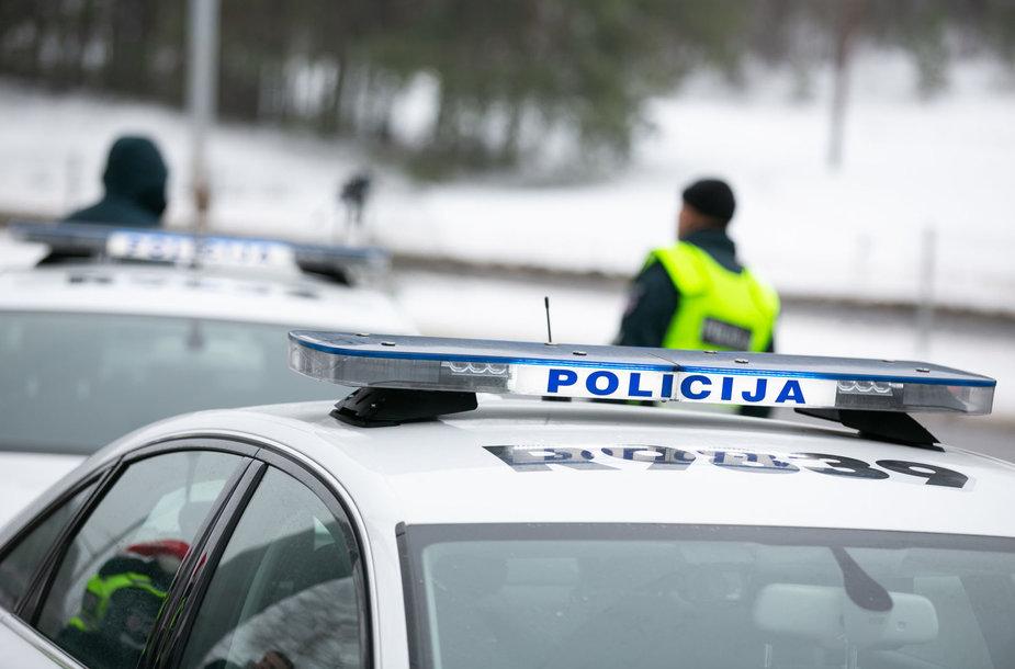 Šventinio kelių policijos reidas Vilniuje akimirka