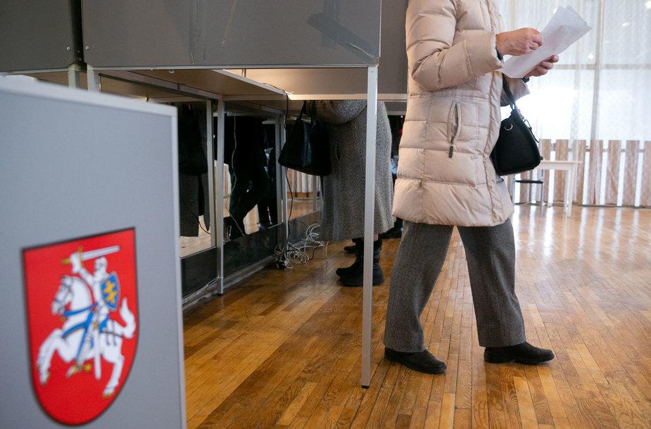 Savivaldos rinkimai Sporto apylinkėje Vilniuje