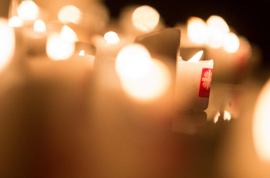 """Paramos koncerto """"Degu kaip žvakė"""" akimirka"""