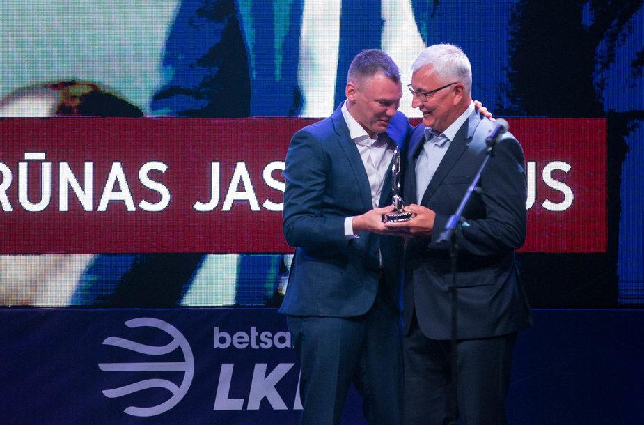 Šarūnas Jasikevičius ir Jonas Kazlauskas