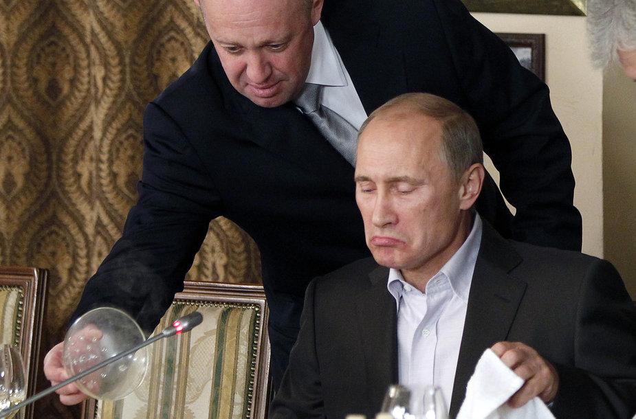 Jevgenijus Prigožinas ir Vladimiras Putinas