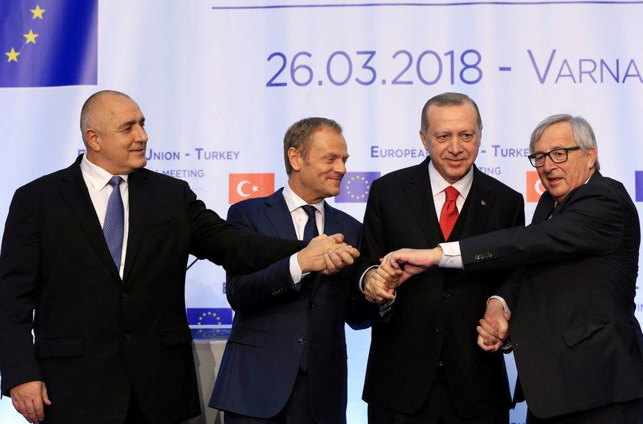 Boyko Borisovas, Donaldas Tuskas, Recepas Tayyipas Erdoganas, Jean'as-Claude'as Junckeris