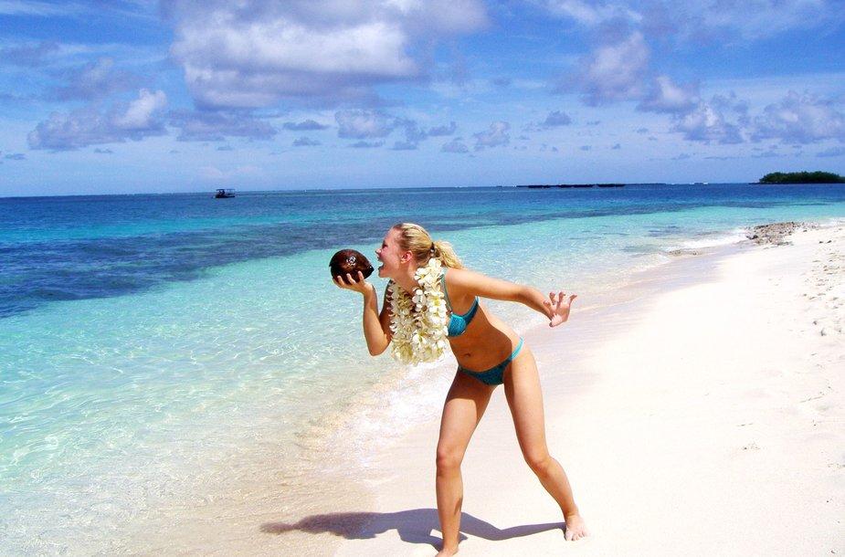 """Kelionių organizatoriaus """"GRŪDA"""" keliautoja Fidžio salyne"""