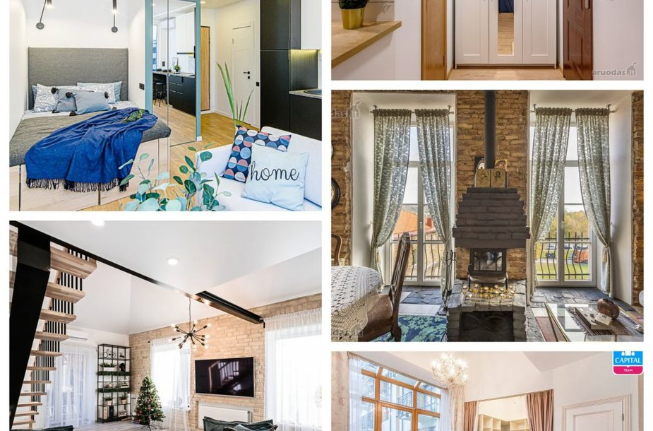 Vilniuje parduodamų butų TOP 5