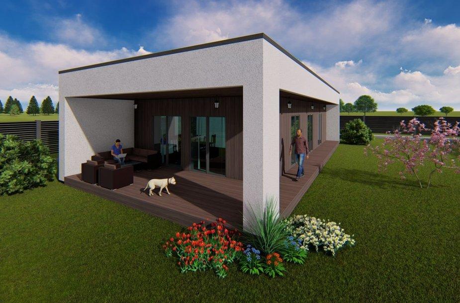 Kristinos Šverebės projektuojamos terasos. Po stogu