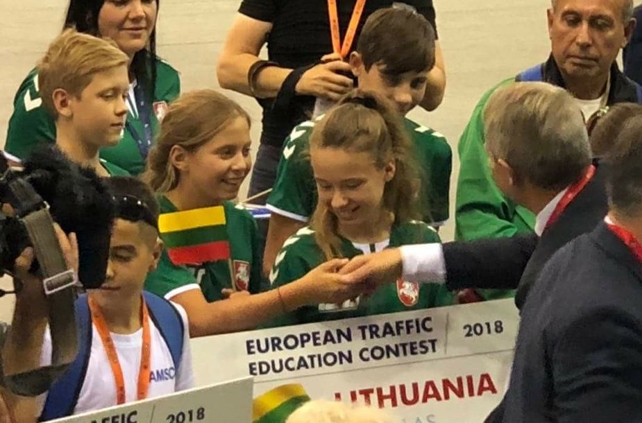 Jaunieji Lietuvos dviratininkai Europos saugaus eismo konkurse užėmė 10-ąją vietą