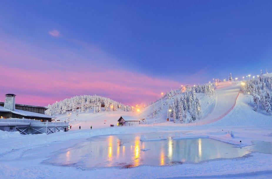 Ruka slidinėjimo kurorte - tikra žiemos pasaka
