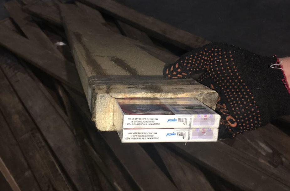 Cigarečių kontrabandos sulaikymai