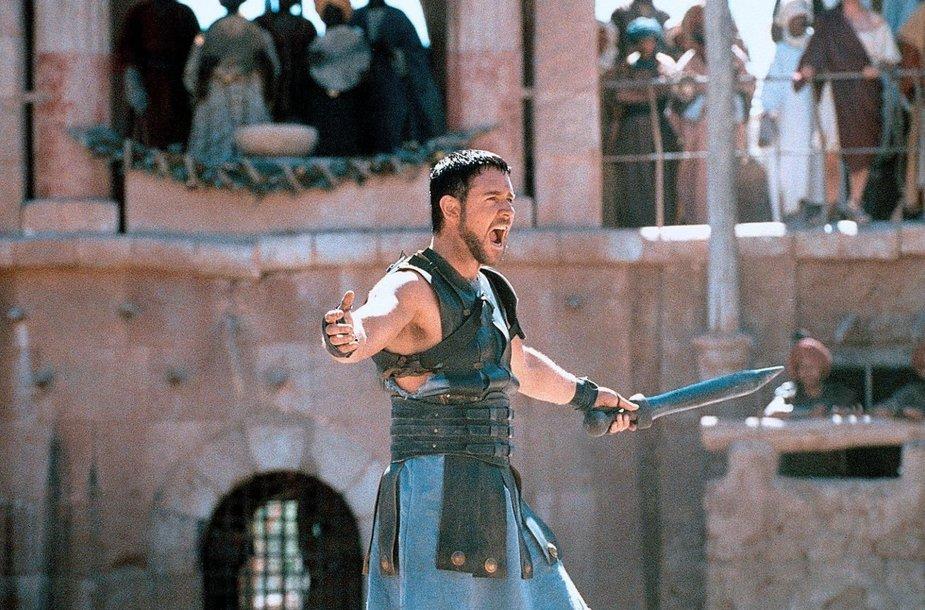 """Russellas Crowe filme """"Gladiatorius"""""""